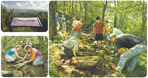students building trails at Elk Knob State Park